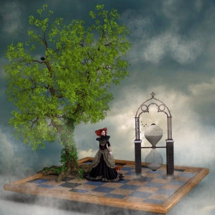 Sky Mood Chess Board Tree Hourglass Princess